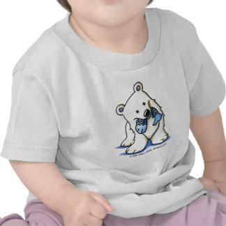 T-shirt da criança do urso polar