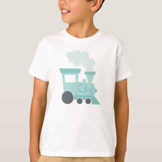 T-shirt da criança dos carros de trem camiseta