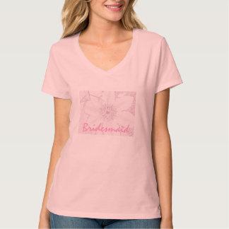 T-shirt da dama de honra do Clematis