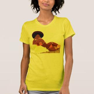 T-shirt da deusa do Afro
