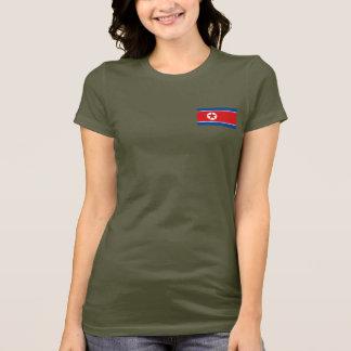 T-shirt da DK da bandeira e do mapa da Coreia do Camiseta