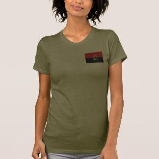 T-shirt da DK da bandeira e do mapa de Angola Camiseta