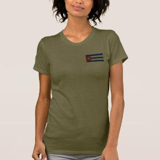 T-shirt da DK da bandeira e do mapa de Cuba