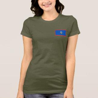 T-shirt da DK da bandeira e do mapa de Guam Camiseta