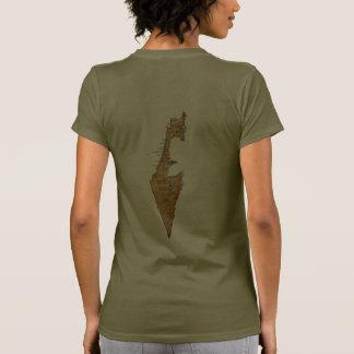 T-shirt da DK da bandeira e do mapa de Israel