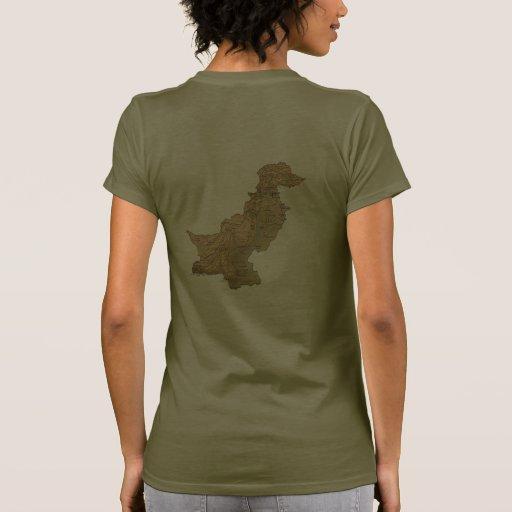 T-shirt da DK da bandeira e do mapa de Paquistão