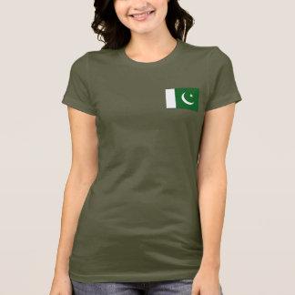 T-shirt da DK da bandeira e do mapa de Paquistão Camiseta