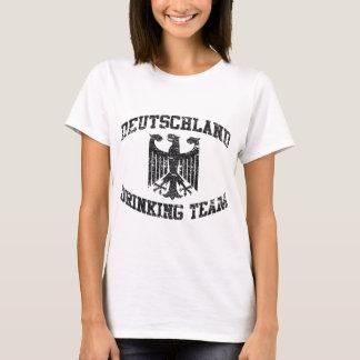 T-shirt da equipe do bebendo da alemanha camiseta