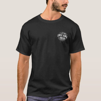 T-shirt da equipe do pai e da filha camiseta