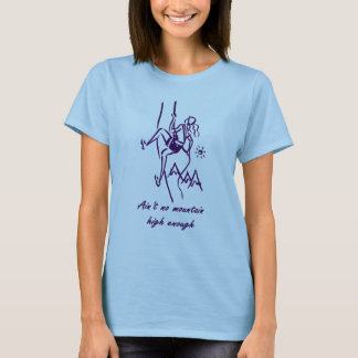 T-shirt da escalada camiseta