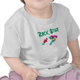 T-shirt da estrela do rock para a criança, criança
