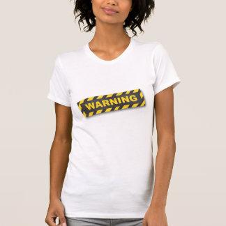 T-shirt da etiqueta de advertência