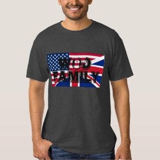 T-SHIRT da FAMÍLIA de América e de Grâ Bretanha
