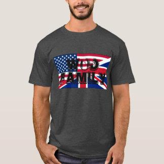 T-SHIRT da FAMÍLIA de América e de Grâ Bretanha Camiseta