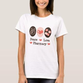 T-shirt da farmácia do amor da paz