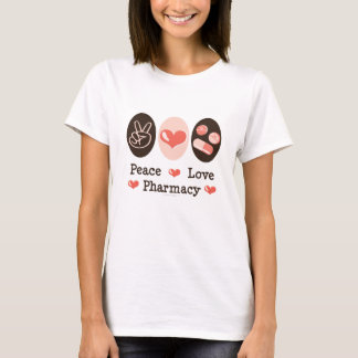 T-shirt da farmácia do amor da paz camiseta