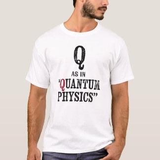 T-shirt da física de quantum - letra do alfabeto camiseta