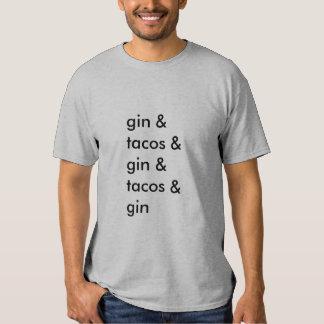 T-shirt da gim e do Tacos (homens básicos)