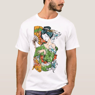 T-shirt da gueixa camiseta