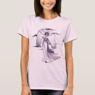 T-shirt da gueixa do luar camiseta