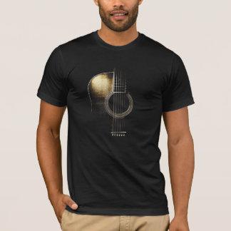 T-shirt da guitarra acústica (veja por favor a camiseta