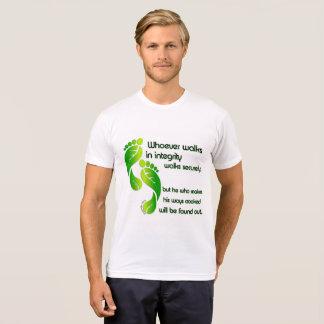 T-shirt da integridade dos provérbio camiseta