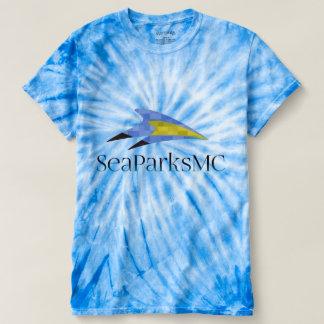 T-shirt da Laço-Tintura do ciclone das mulheres de Camiseta