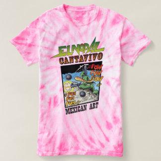 T-shirt da Laço-Tintura do ciclone de Cantavivo do Camiseta
