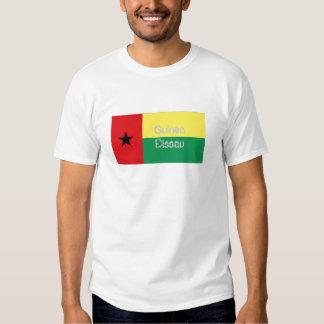 T-shirt da lembrança da bandeira de Guiné-Bissau