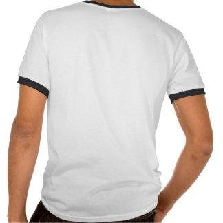 T-shirt da lista do relógio do sistema de