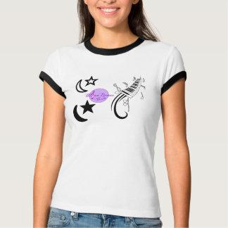 T-shirt da lua da música de MoonDreams e da