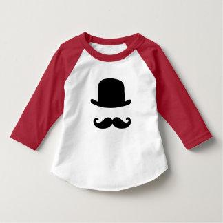 T-shirt da luva da criança 3/4 do bigode & do