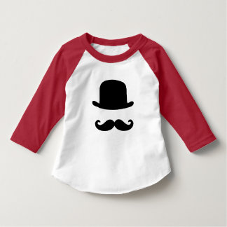 T-shirt da luva da criança 3/4 do bigode & do camiseta