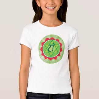 T-shirt da luva de Chakra Anahata Girls'Cap do