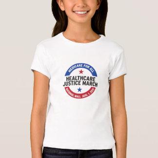 T-shirt da luva do boné das meninas