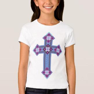 T-shirt da luva do boné das meninas de Regium