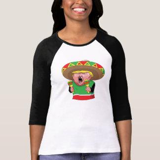 T-shirt da luva do mexicano 3/4 do trunfo das camiseta