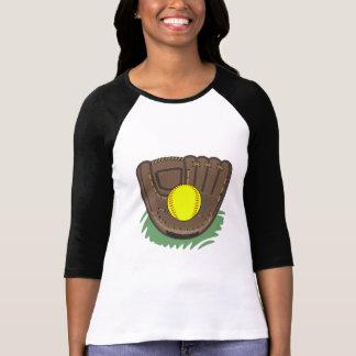 T-shirt da luva do softball de Fastpitch
