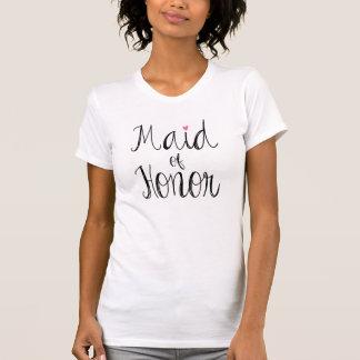 T-shirt da madrinha de casamento do roteiro do camiseta