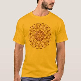 T-shirt da mandala da roda denteada da origem camiseta