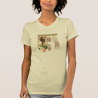 t-shirt da menina da senhora do gato