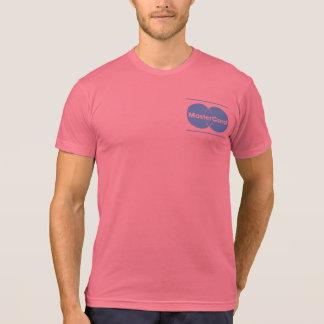 T-shirt da mistura do Poli-Algodão de MasterCard