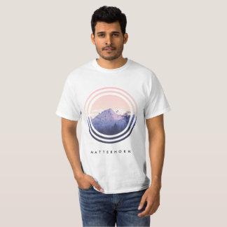 T-shirt da montanha (nome editável da montanha) camiseta