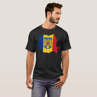 T-shirt da nação de Romania Camiseta