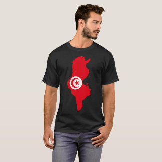 T-shirt da nação de Tunísia Camiseta