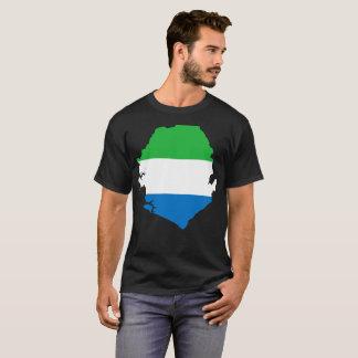T-shirt da nação do Sierra Leone Camiseta