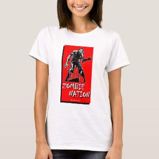 T-shirt da nação do zombi camiseta
