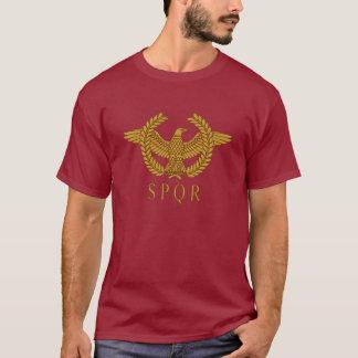 T-shirt da obscuridade do ouro do louro de SPQR Camiseta