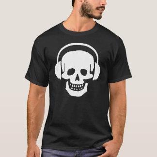 T-shirt da obscuridade dos fones de ouvido do camiseta
