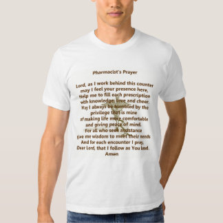 T-shirt da oração do farmacêutico